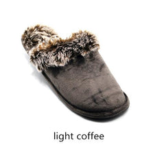 Load image into Gallery viewer, Plus Size Winter Plush  Lover Skid House Slippers