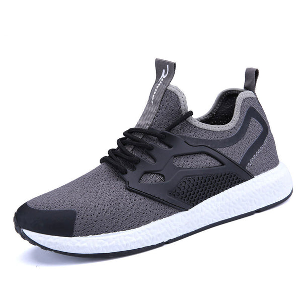 Casual Breathable Comfortable Lightweight Lace-Up Men Walking Shoes