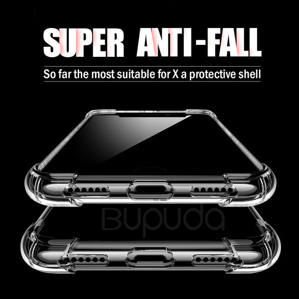 Luxury Shockproof Silicone Transparent Cases For iPhone X 8 7 6 6s Plus