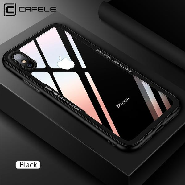 Original Soft TPU + Ultra Thin Transparent Glass Back Cover For Apple iPhone X