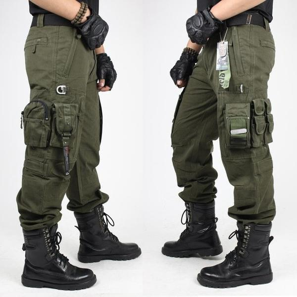 Men US Army Style Cargo Pants