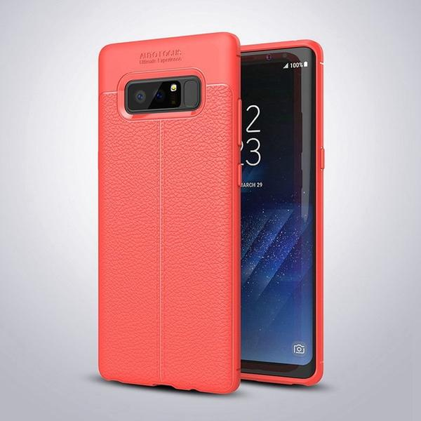 Luxury Litchi Leather Silicone Dirt-resistant Cover Case For Samsung Galaxy S9/S8 Plus Note 8