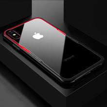 Load image into Gallery viewer, Tempered glass Transparent Clear Cover Bumper On The For Apple iPhone