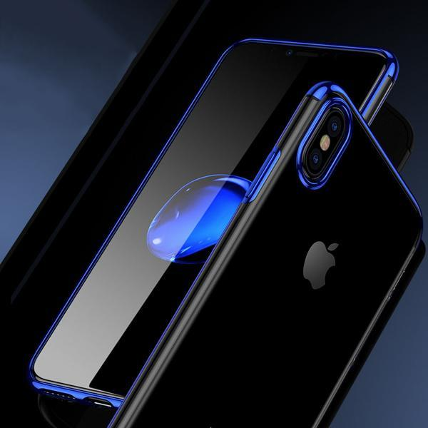Luxury 3D Plating Transparent Cases For iPhone X 8 7 6S 6/Plus