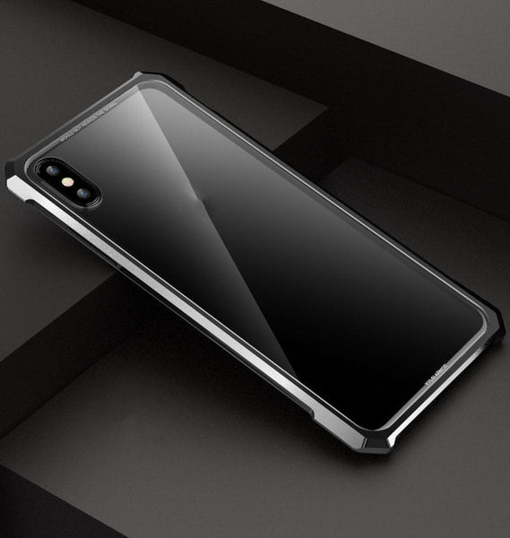iphone xs max case with tempered glass