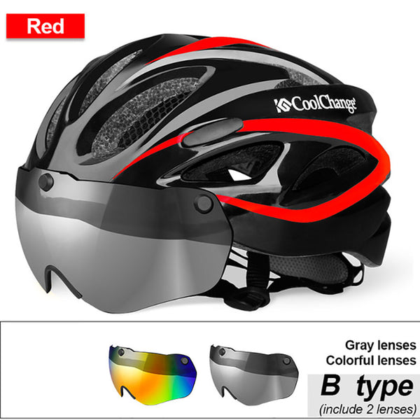 Windproof Lenses Integrally-molded Helmet