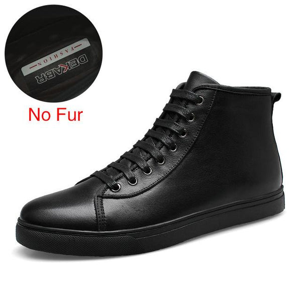 Plus Size Fashion Genuine Leather Casual Boots