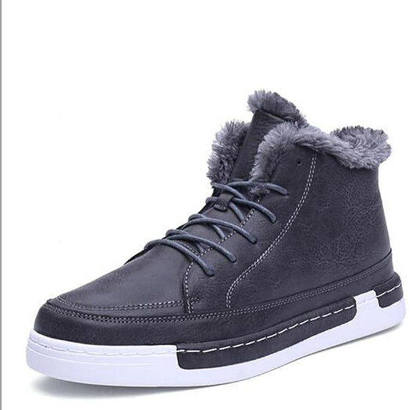 Winter Men Lace-Up ankle Boots