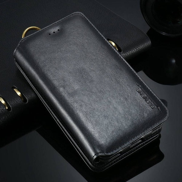 Leather Wallet Case For iPhone & Samsung