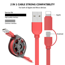 Load image into Gallery viewer, Retractable USB Cable For iPhone & Samsung