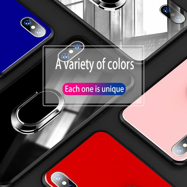 Luxury Tempered Glass Phone Case For iPhone X 8 7 6S 6/Plus
