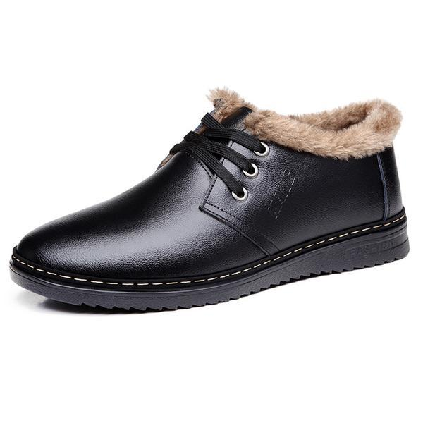 High Quality Men's Casual Fur Warm Shoes