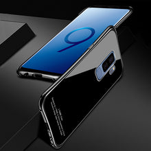 Load image into Gallery viewer, Luxury Glitter Slim Hard Aluminum Frame+Tempered glass  Case For S9/S9+