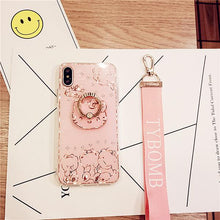 Load image into Gallery viewer, Bing Cute Cartoon Diamond back Case For iPhone