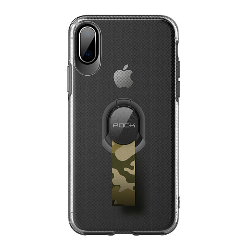 Removable With Ring Back  Ultra-Slim PC+TPU Shockproof Cover for iPhone X