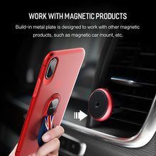 Load image into Gallery viewer, Removable With Ring Back  Ultra-Slim PC+TPU Shockproof Cover for iPhone X