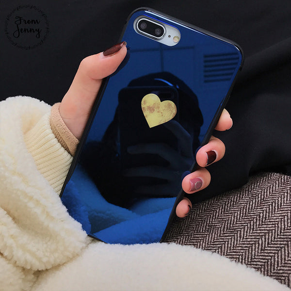 Tempered Back Love Heart Case for iPhone 8/X/7/6