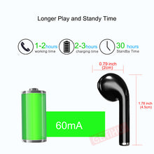 Load image into Gallery viewer, Wireless Mini Earphones Headphone Earpiece For iPhone X 7 8