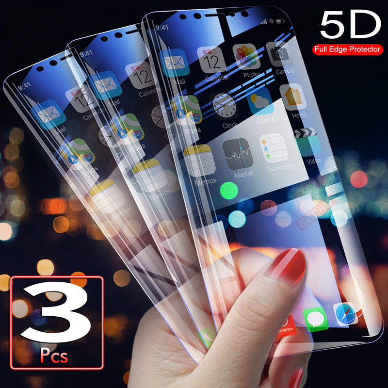 3PCS 5D Full Edge Protective Soft TPU  Flim For iphone & Samsung(Not Tempered Glass)