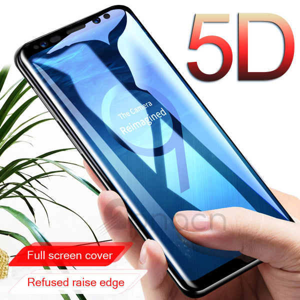 5D Curved Full Cover Tempered Glass Screen Protector Film  For Samsung