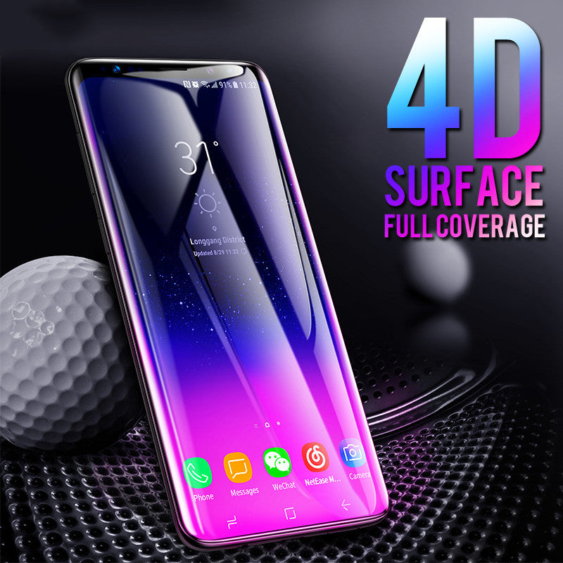 4D Tempered Glass Film For Samsung Galaxy S7 S6 Edge S8 S9 Plus Note 8