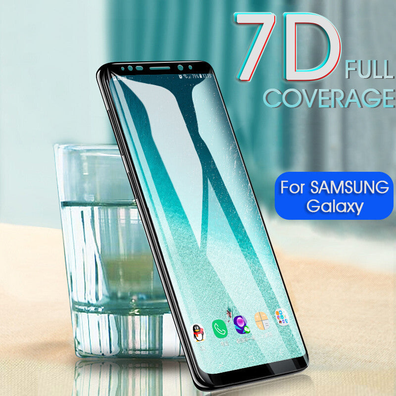 7D Tempered Glass Full Cover Screen Protector  For Samsung Galaxy S8 S9 Plus Note 8 9