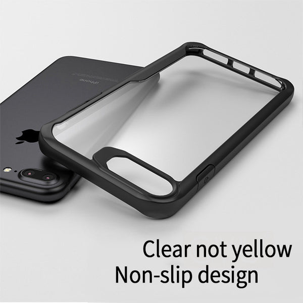 Soft + Hard Transparent Protection Shell For iPhone 6 6s 7 8 X