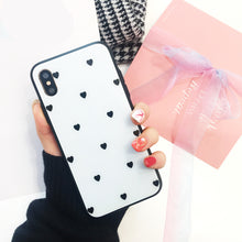 Load image into Gallery viewer, Cute Love Heart Glass Phone Case for IPhone