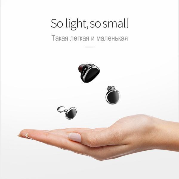 Earphone - Invisible Music Bluetooth Wireless In-Ear Mini Earphone With Mic