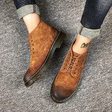Load image into Gallery viewer, Genuine Leather Men  Autumn Winter Ankle Boots
