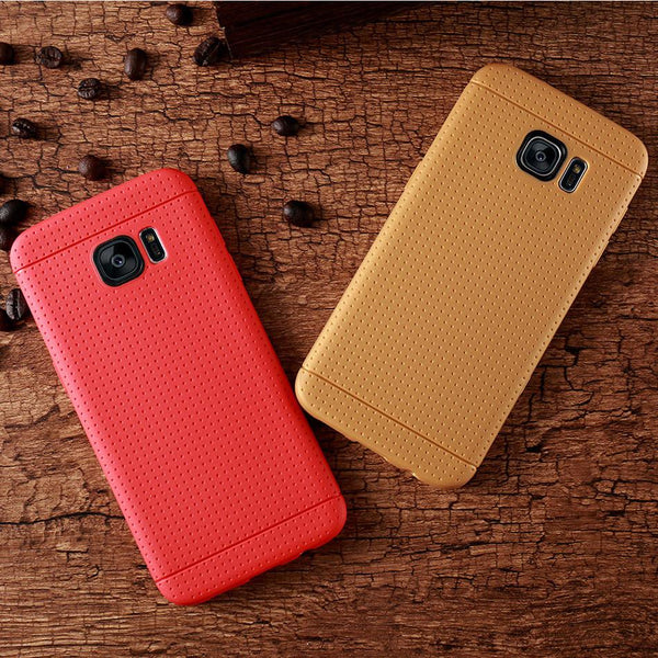 Ultra Slim Candy Color Honeycomb Dot Protective Cover For Samsung