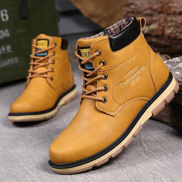 Men High Quality Leather Wear Resisting Casual Shoes