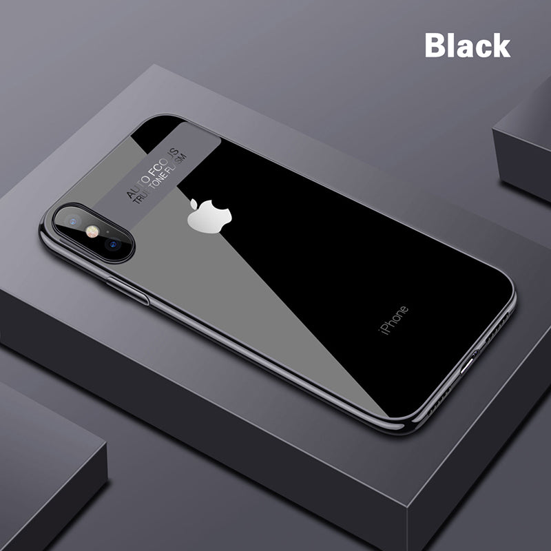 Epectroplating Clear Phone Case For iPhone X