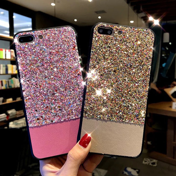 Glitter Shining Phone Case For Apple iPhone X 8 7 6S 6 Plus