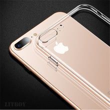 Load image into Gallery viewer, Simple Ultra Thin Transparent Case For iPhone 5s 6s 6 7 8 Plus