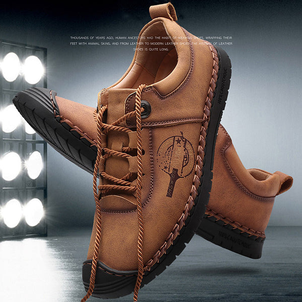 2019 New Men Casual Leather Flat Shoes(BUY 2PCS TO GET 10% OFF)