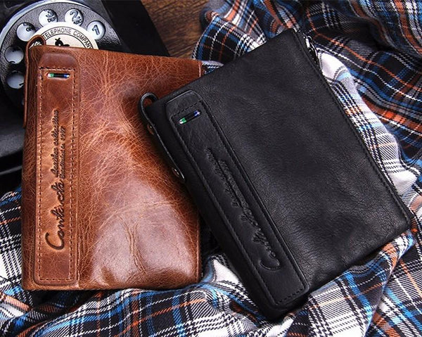 Wallets - Men Hot Vintage Genuine Leather Wallet