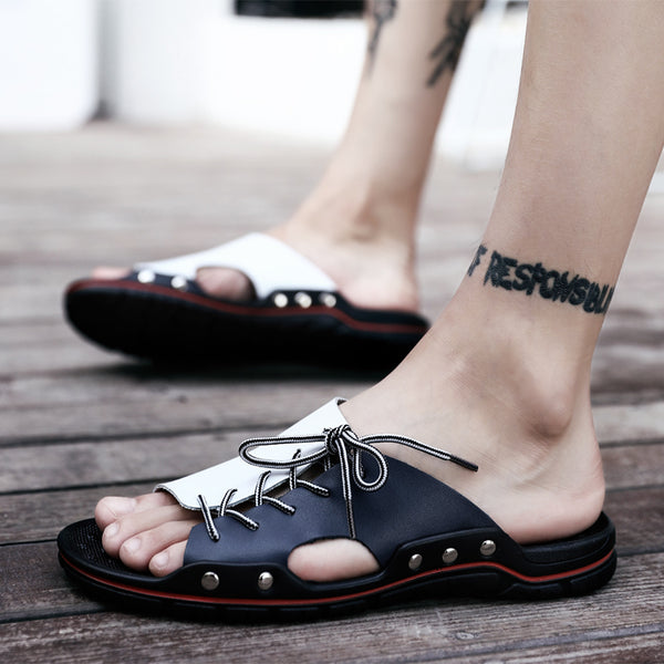 2019 Summer Genuine Leather Men Beach Slippers(BUY 2PCS TO GET 10% OFF)