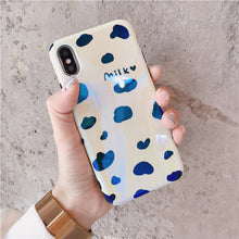 Load image into Gallery viewer, Blu-ray Cute Cow Pattern Mobile Phone Cases for iphone X 8 8plus 7 7plus