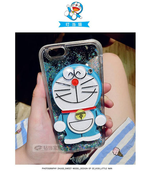 Lovely Hello Kitty Glitter Sand Cover With Hidden Mirror For iPhone