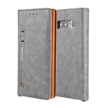 Load image into Gallery viewer, Leather Flip Wallet Card Slot Phone Case For Samsung Note 8