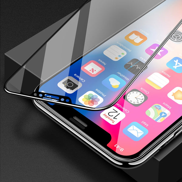 6D Curved Full Cover Tempered Glass Screen Protector  For iPhone X 6 6s 7 8 Plus