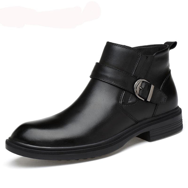 High Quality Genuine Leather Winter Men  Ankle Boots
