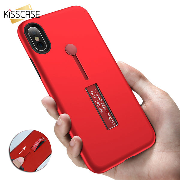 New Pop 2 In 1 Shells Ring Stand Socket Cover For iPhone X