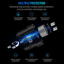 Load image into Gallery viewer, Universal 3.4A LED 2 USB LCD  Car-Charger for Mobile Phones for Tablet