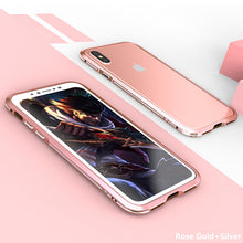 Load image into Gallery viewer, Luxury Hard Metal Aluminum Frame Shockproof Bumper Case for iPhone 10