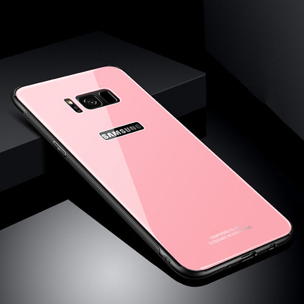 Hybrid Tempered Glass Back Cover For Samsung S9/S9+/S8