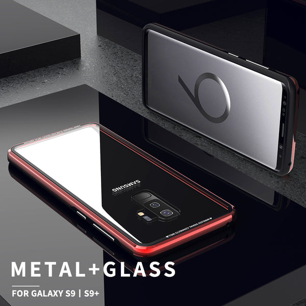 cheap for discount 85e5d c80a8 Luxury Aluminum Hardness Tempered Glass Cases For Samsung S9/S9 Plus(BUY  2PCS TO GET 15% OFF)