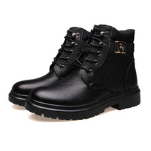Load image into Gallery viewer, fashion warm leather high-top men's boots