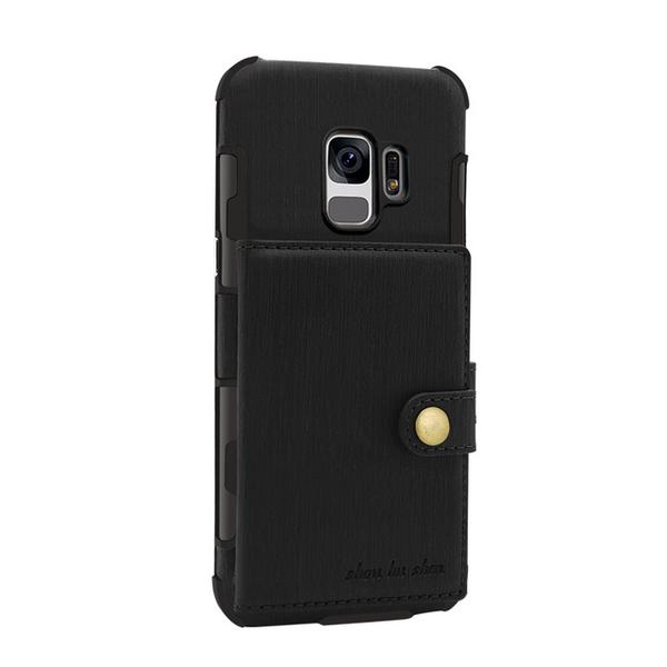 Retro PU Leather Pouch Back Case For Samsung Galaxy S9/S9 Plus